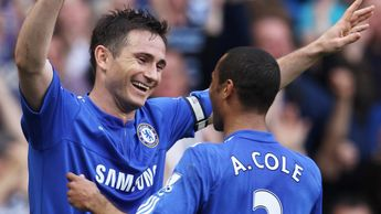Frank Lampard (left) celebrates with Ashley Cole in 2010
