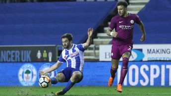 Will Grigg scores Wigan's famous winner against Manchester City
