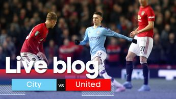 Our live coverage of Manchester City v Manchester United from the Etihad Stadium.