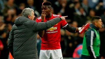 Jose Mourinho's (left) relationship with Paul Pogba (right) is reportedly becoming more and more strained