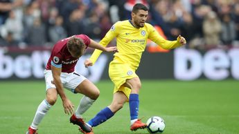 Action from West Ham v Chelsea