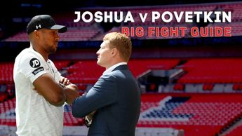 Anthony Joshua takes on Alexander Povetkin at Wembley on Saturday night