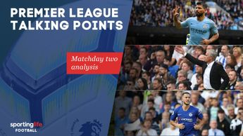 Premier League talking points: Sergio Aguero, Jose Mourinho and Eden Hazard (top to bottom) all feature in matchday two