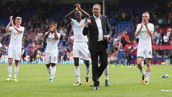 A delighted Paul Clement and his Swansea players