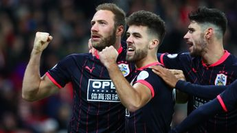 Laurent Depoitre and Huddersfield celebrate