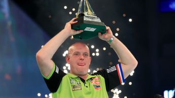 Michael van Gerwen lifts the Premier League Darts title for a fifth time