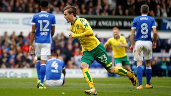 James Maddison celebrates