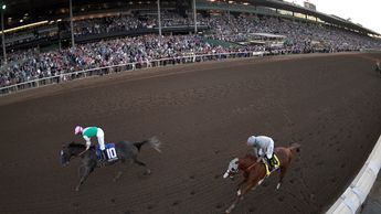 Action from Santa Anita
