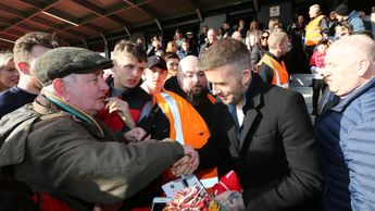David Beckham spent time meeting Salford's supporters