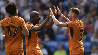 Wolves celebrate another goal