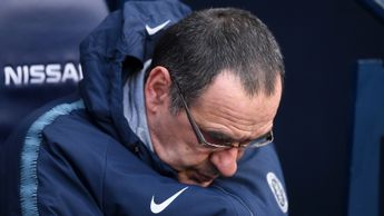 Maurizio Sarri during Chelsea's 6-0 defeat to Manchester City