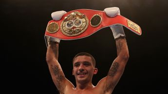 Lee Selby with his IBF world-title belt