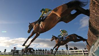 Action from Naas racecourse