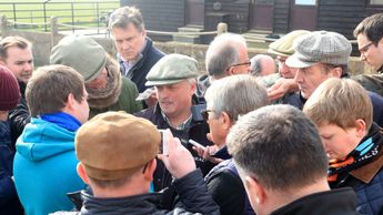 Trainer Colin Tizzard was the centre of attention on Wednesday