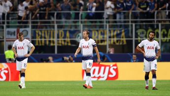 Eric Dier, Harry Kane and Mousa Dembele (left to right): Spurs' players react after conceding v Inter Milan