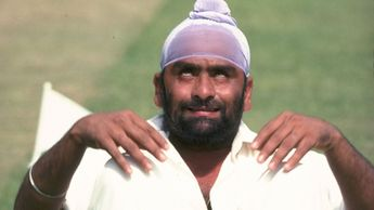 Indian legend Bishan Bedi (pictured in a yoga pose) was born on this day in 1946