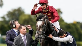 Oisin Murphy celebrates on Roaring Lion