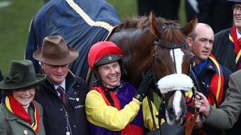 Colin Tizzard, Native River and Richard Johnson pose for the cameras