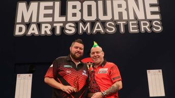 Peter Wright beat Michael Smith to win the Melbourne Darts Masters (Pic: PDC/Ian Curry)