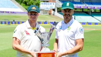 Australia's Steven Smith (left) and Faf du Plessis of South Africa