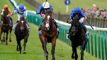 Military March (left) battles to Autumn Stakes victory