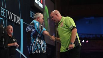Phil Taylor will meet MVG at the Champions League of Darts (Pic: Lawrence Lustig)