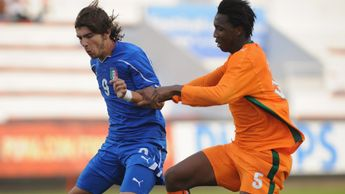 Samuel Yohou pictured in action for Ivory Coast at the Toulon Tournament in 2011
