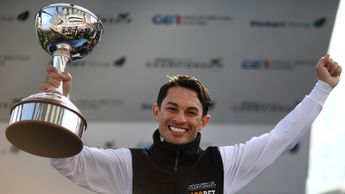 Silvestre de Sousa with the Stobart Champion Jockey trophy