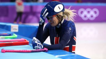 A dejected Elise Christie