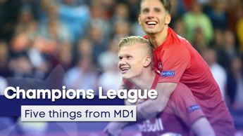 We look at the five main events from matchday one of the 2019/20 Champions League