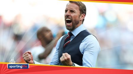 Gareth Southgate celebrates after England's 6-1 win over Panama