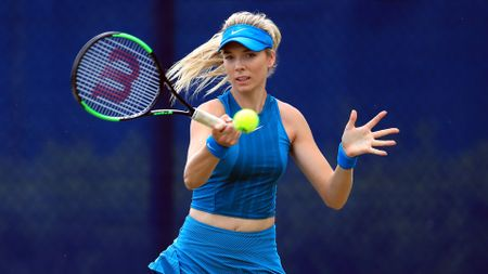 Katie Boulter on her way to a massive win
