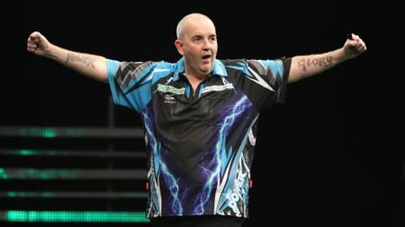 Phil Taylor at the Champions League of Darts (Pic: Lawrence Lustig)