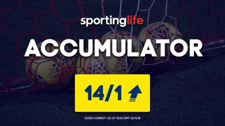 Saturday's Sporting Life's Accumulator is available at 14/1