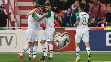 Celebrations for Jeff Hendrick and Republic of Ireland