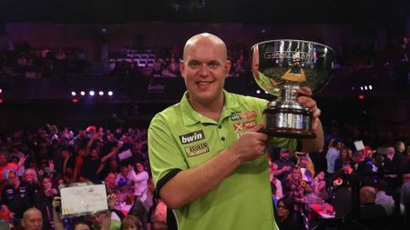 Michael van Gerwen is the defending champion at the Grand Slam of Darts (Picture: Lawrence Lustig/PDC)