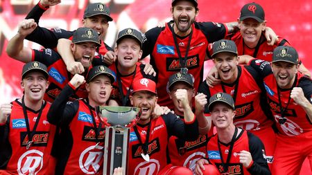 Celebration time for the Melbourne Renegades