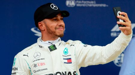 There is always time for Lewis Hamilton and a selfie. Always.