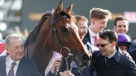Aidan O'Brien (r) with Hydrangea
