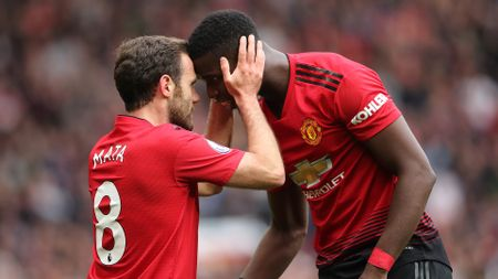 Juan Mata and Paul Pogba