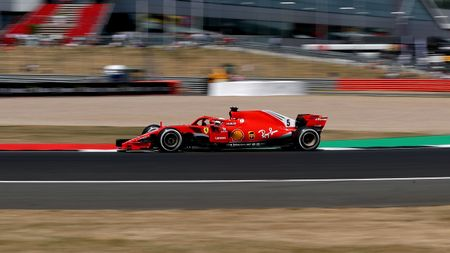 Sebastian Vettel during Practice Two at Silverstone