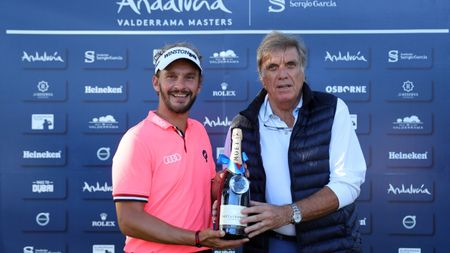 Joost Luiten earns a bottle of bubbly for his albatross