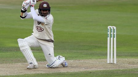 Kumar Sangakkara in action for Surrey