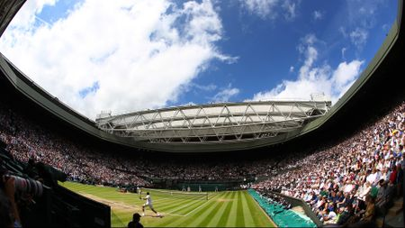 A view of Wimbledon's Centre Court
