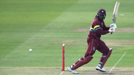 Chris Gayle in action for the West Indies