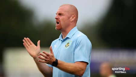Sean Dyche watches his Burnley side in action