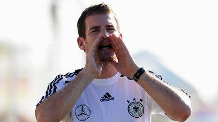 Jan Siewert during his time in charge of Germany u18s
