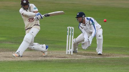 Jonny Bairstow behind the stumps