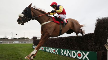 Native River and Richard Johnson on their way to victory at Aintree