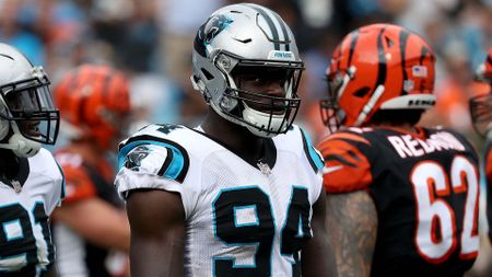 British defensive end Efe Obada plays for the Carolina Panthers in the NFL